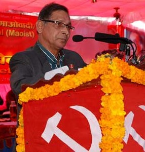 Mohan Baidya Kiran, Chairman of the Nepal Communist Party-Maoist.